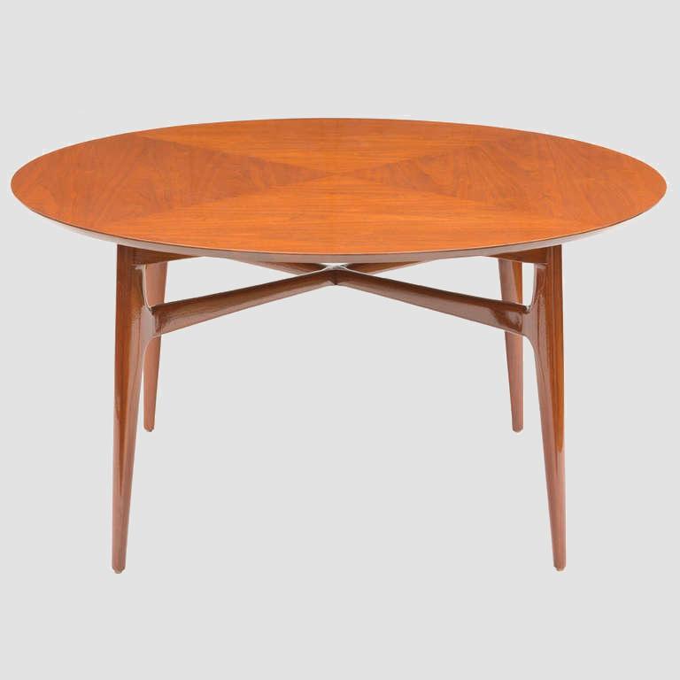 1950u0027s Walnut Round Tea Table Main Image