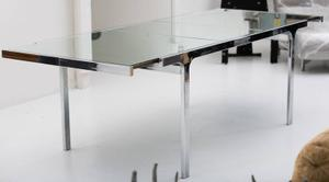 Pierre Cardin Mirror and Steel Table Preview Image 1