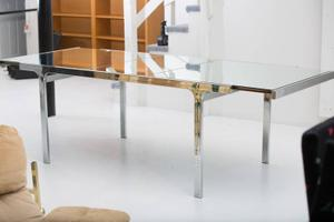 Pierre Cardin Mirror and Steel Table Preview Image 8