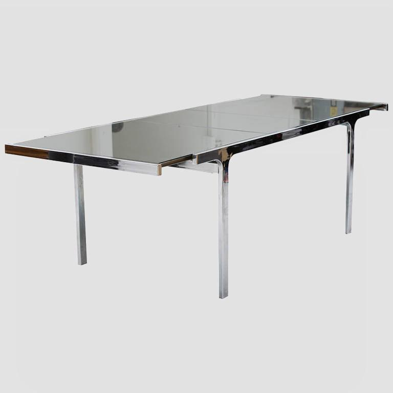 Pierre Cardin Mirror and Steel Table Main Image