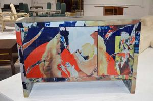 """Mimmo Rotella Art Cabinet """"Marylin Monroe"""" Preview Image 1"""