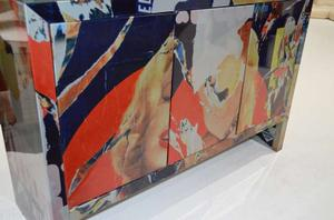 """Mimmo Rotella Art Cabinet """"Marylin Monroe"""" Preview Image 2"""