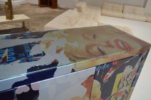 """Mimmo Rotella Art Cabinet """"Marylin Monroe"""" Preview Image 5"""