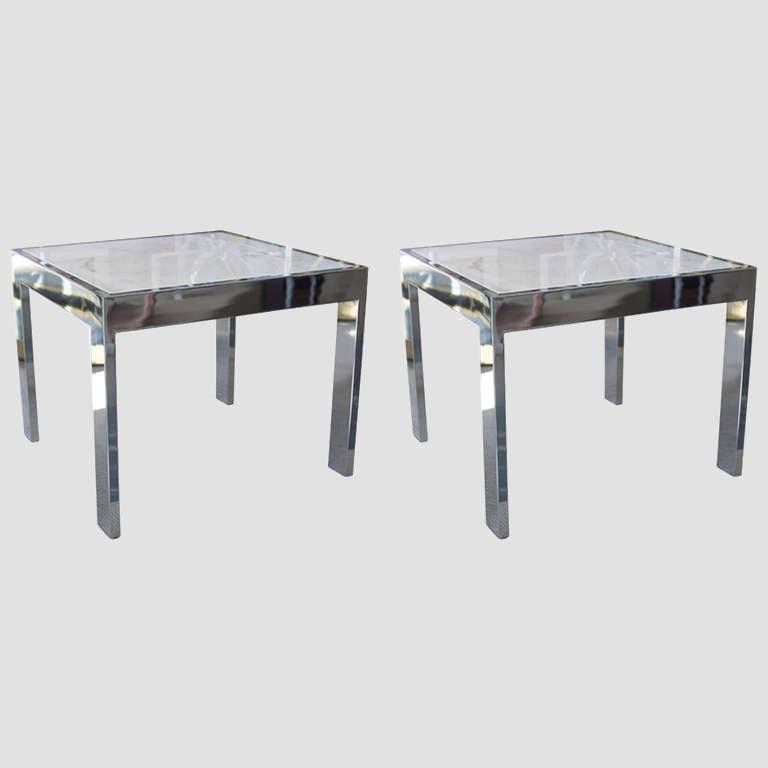 Marble and Steel Side Tables Main Image