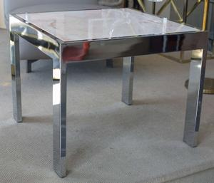 Marble and Steel Side Tables Preview Image 6