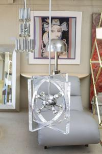 1970s Lucite and Chrome Chandelier Preview Image 2