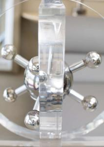 1970s Lucite and Chrome Chandelier Preview Image 5