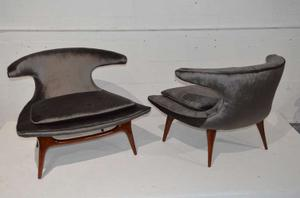 """Horn"" Lounge Chairs by Karpen of California"" Preview Image 1"