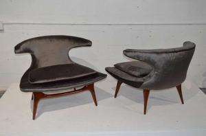 """Horn"" Lounge Chairs by Karpen of California"" Preview Image 3"