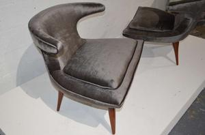 """Horn"" Lounge Chairs by Karpen of California"" Preview Image 4"