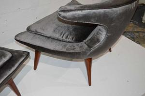 """""""Horn"""" Lounge Chairs by Karpen of California"""" Preview Image 5"""