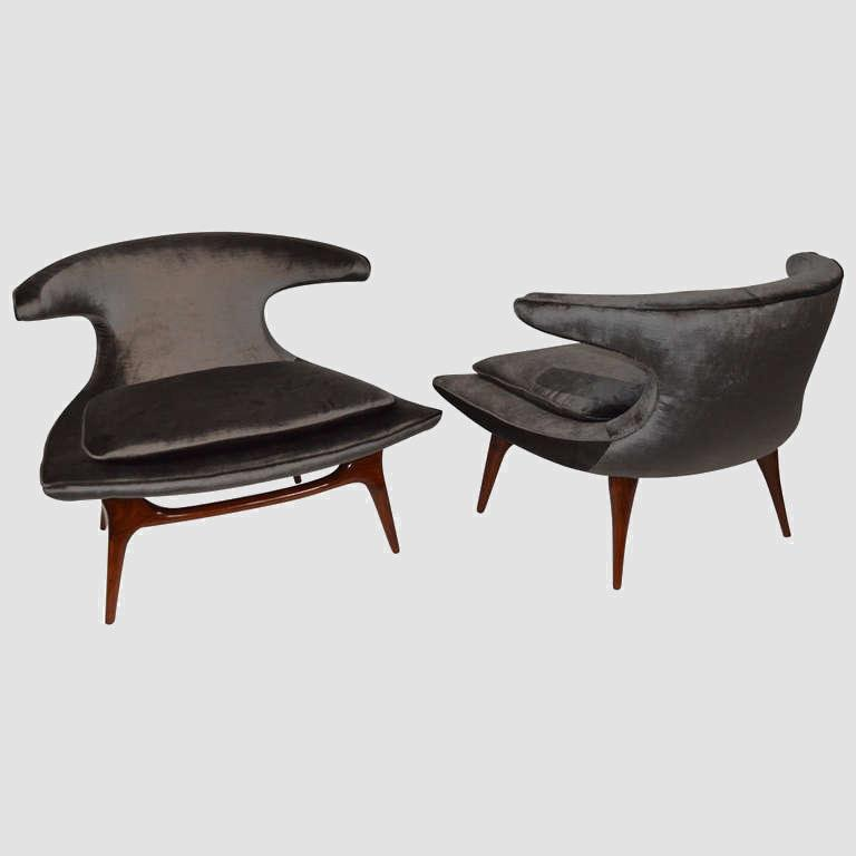 """Horn"" Lounge Chairs by Karpen of California"" Main Image"