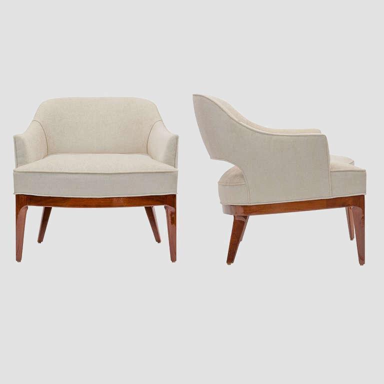 T.H.Robsjohn-Gibbings 1950's Lounge Chairs Main Image