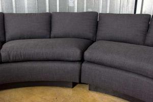 Milo Baughman 1970's Circular Sofa Preview Image 2