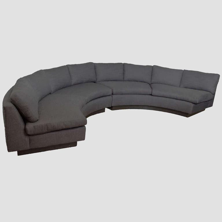 Milo Baughman 1970's Circular Sofa Main Image