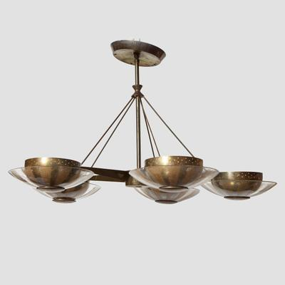 Gerald Thurston Bass and Glass Chandelier Preview