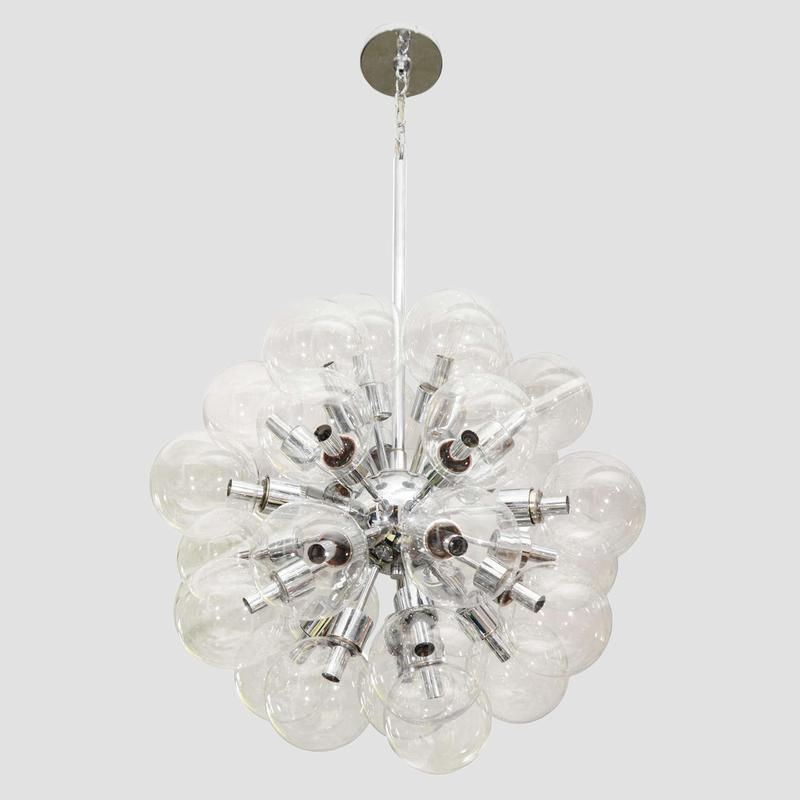 Lightolier Glass Ball Chandelier Main Image