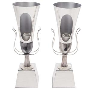 Tommi Parzinger 1950's Silver Urn Lamps Preview Image 1