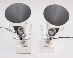 Tommi Parzinger 1950's Silver Urn Lamps Preview Image 3