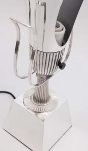Tommi Parzinger 1950's Silver Urn Lamps Preview Image 6