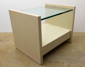 "Karl Springer ""Solid Side"" Leather Tables Preview Image 2"