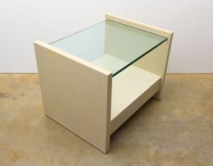 "Karl Springer ""Solid Side"" Leather Tables Preview Image 3"