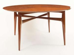1950's Walnut Round Tea Table Preview Image 1