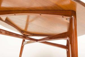 1950's Walnut Round Tea Table Preview Image 4