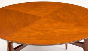 1950's Walnut Round Tea Table Preview Image 5