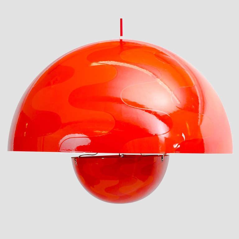 Verner Panton 1960's Op-Art Pendant Main Image