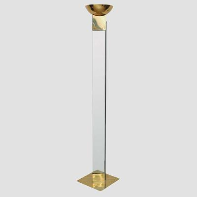 Glass and Brass Italian Torchere Preview