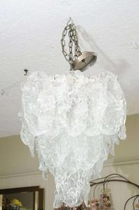 Murano Ice Glass Pendant by Mazzega Preview Image 2