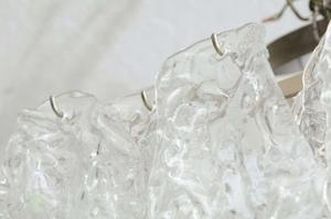 Murano Ice Glass Pendant by Mazzega Preview Image 4