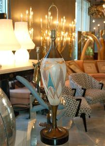 50's Glass and Brass Table Lamps Preview Image 2