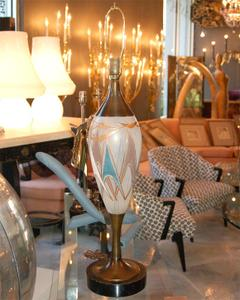50's Glass and Brass Table Lamps Preview Image 3