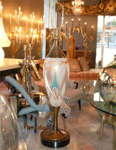 50's Glass and Brass Table Lamps Preview Image 4