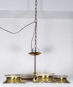 Five Arm Brass Chandelier by Lightolier Preview Image 1