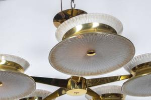 Five Arm Brass Chandelier by Lightolier Preview Image 5