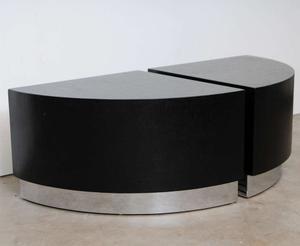 Karl Springer Linen Side Tables Preview Image 1