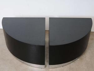 Karl Springer Linen Side Tables Preview Image 2