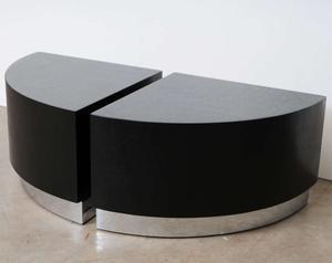 Karl Springer Linen Side Tables Preview Image 3