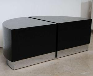 Karl Springer Linen Side Tables Preview Image 4