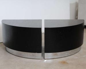 Karl Springer Linen Side Tables Preview Image 5