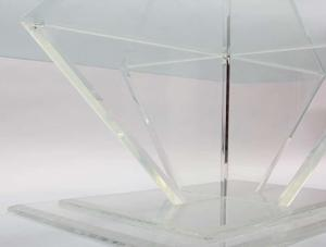 Sculptural Lucite and Glass Cocktail Table Preview Image 3