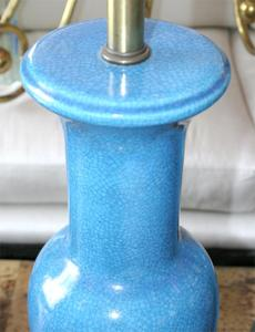 Pair of Fredric Cooper Blue Table Lamps Preview Image 4