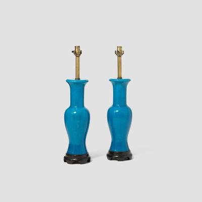 Pair of Fredric Cooper Blue Table Lamps Preview
