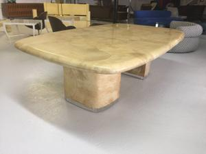 Goat Skin & Lucite Dining Room Table by S.Chase Preview Image 1