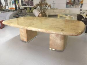 Goat Skin & Lucite Dining Room Table by S.Chase Preview Image 2