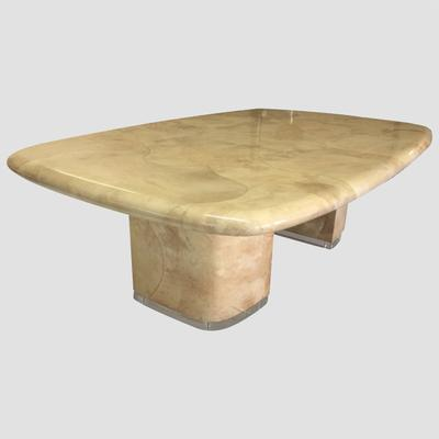 Goat Skin & Lucite Dining Room Table by S.Chase Preview