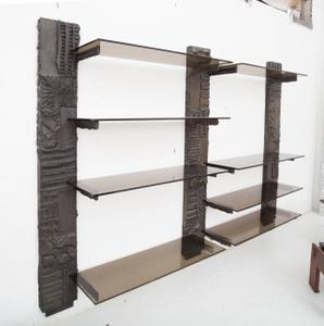 Paul Evans Sculpted Bronze Shelves Preview Image 2